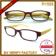 R1555 Best Selling Fashion Trend Slim Bamboo Temple Reading Eyeglasses