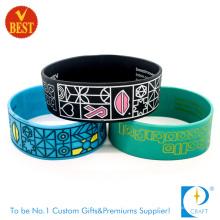 Bracelete barato relativo à promoção feito sob encomenda do silicone e bracelete de Silicoen (LN-011)