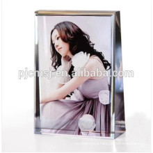 Customized crystal photo frame with color printing for souvenirs