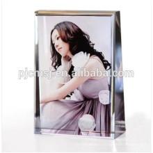 Подгонянный кристаллический рамка фотоего с цветной печатью под сувениры