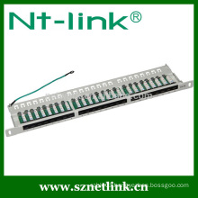 0.5U 19 inch 24 port cat5e cat6 utp patch panel