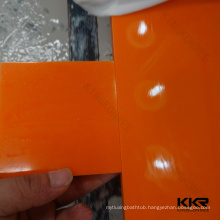HOT Orange Color Composite Acrylic Solid Surface For Countertops