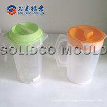 Moule en plastique adapté aux besoins du client de cruche d'injection, moule en plastique de tasse