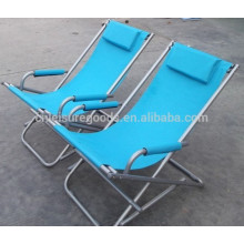folding beach chair with padded shoulder