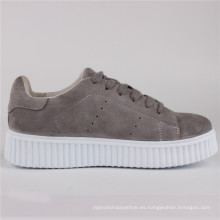 Zapatos de mujer Zapatos de gamuza de vaca de moda Sneaker Snc-65002