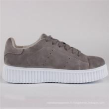 Femmes Chaussures Dames De Mode Vache Daim Chaussures Sneaker Snc-65002
