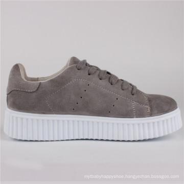 Women Shoes Ladies Fashion Cow Suede Shoes Sneaker Snc-65002