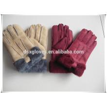 Wholesale cheap real lamb fur gloves