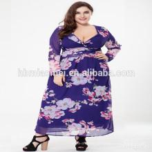 Neue Damen plus size Kleid Frauen neuesten formalen Kleid Muster Maxikleid