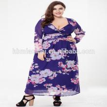 Новый дамы плюс Размер женщин платье последний формальные модели платье макси платье