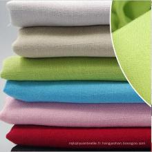 95% Coton 5% Spandex Linen Look Slub Tissu de vêtement tissé