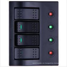 Panel de conmutador de barco / eje de balancín de 4 cuadradras LED con disyuntor