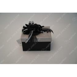 Black plate flower handmade gift box