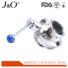 Sanitary Clamp Butterfly Valve with Ss Pull Handle