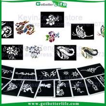 2015 getbetterlife shimmer glitter tattoo stencils/glitter tattoo stencils wholesale/reusable glitter tattoo stencil