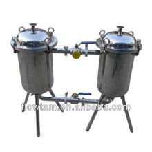 popular stainless steel double barrel filter