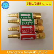 Válvula de segurança da tocha de soldagem Aparador de flashback 588L 588R