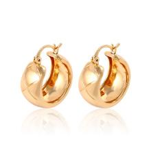 Moda Simple ventas calientes 18k oro imitación chapado en joyería pendiente Huggies para mujeres -91155
