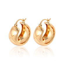 Fashion Simple Hot Sales 18k Gold-Plated Imitation Jewelry Earring Huggies for Women -91155