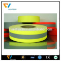 lemon green polyester elastic high visible 3m reflective tape for clothing