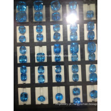 Topázio Azul Swiss Gemstone Joias configuração