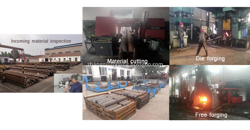 Material cutting and forging