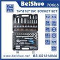 94 PCS 1/4 '' 1 / 2''dr. Ensemble à douilles pour outils à main Cr-V