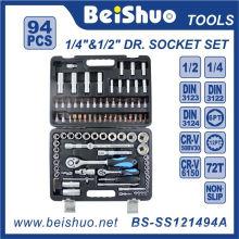 """94PCS 1/2 """"u. 1/4"""" Antriebs-Einfaßungs-Satz für Autoreparaturen"""