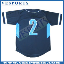 Sublimation 100% Polyester Baseball Jersey