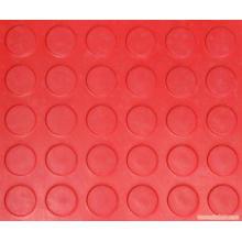Rote Farbe Anti Slip Coin Rubber Blatt Rot Runde Stud Gummi Blatt