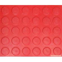 Feuille en caoutchouc rouge de goujon rond rouge de feuille de caoutchouc de pièce de monnaie de glissement rouge