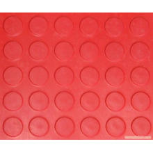 Red Color Anti Slip Coin Rubber Sheet Red Round Stud Rubber Sheet