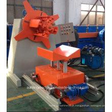 Decoiler hidráulico de qualidade CE e ISO de 5 toneladas com carro de bobina