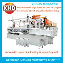 Aplicación de la película y la película del estiramiento de la certificación del CE que hace la máquina