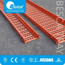 Tipo pre galvanizado perfurado da escada do engranzamento de fio de aço galvanizado bandeja de cabo
