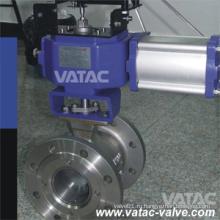 Vatac Flg RF / Rtj Литой стальной V-образный шаровой клапан (сегмент)