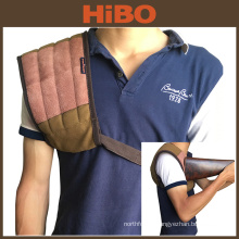 Tourbon hunting canvas and leather shoulder pad for protecting shoulder gun stock recoil pad