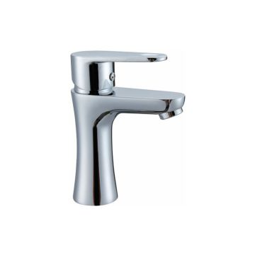Single Lever Chroom Afgeronde Basin Mixer