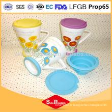275ml Daisy Printing Tea Mug avec filtre en silicone et couvercle pour BS131121B