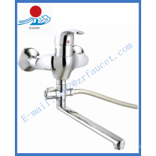 Single Hande Wall-Mounted Brass Kitchen Faucet Water Faucet (ZR21603-A)