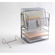 Organisateur de fichiers de bureau en acier à mailles métalliques