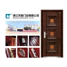 Porte blindée en bois moderne de conception de maison faite en Chine