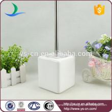 Weißes Badezimmerzubehör keramischer Toilettenbürstenhalter für Familie