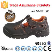 SRSAFETY 2016 промышленные защитные ботинки из тиснения корова сплит-кожа защитная обувь черная сталь безопасная сталь