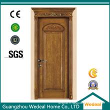 Porte intérieure pleine de luxe de charnière de luxe en bois solide d'oscillation