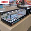 salmon tuna sushi showcase glass cake display cabinet