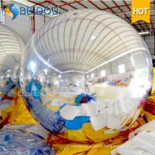 Ballons à miroir décoratif Boule à miroir gonflable en or rouge et argenté