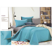 100% Natural colored cotton jersey knit king size duvet cover sets