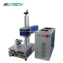 Mini machine d'inscription de laser de la fibre 30w pour le métal