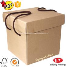 Caja de regalo de papel personalizado caja de almacenamiento vacía